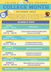 College Month - College Assistant Program Calendar of Events